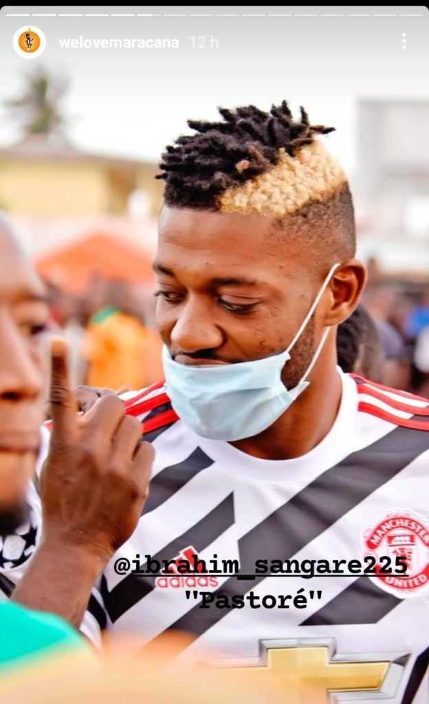 Ibrahim Sangare dilihat menyarung jersi United2